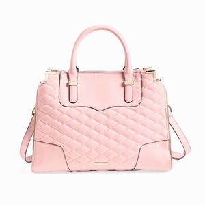Rebecca Minkoff Quilted Amorous Satchel Pink